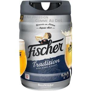 BIÈRE FISCHER TRADITION Fût de bière blonde - Compatble