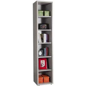 BIBLIOTHÈQUE  Bibliothèque en bois moderne colonne avec 6 casier