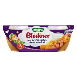 LÉGUMES CUISINÉS BLEDINA Blédîner Duo de carottes et patates douces
