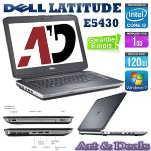 ORDINATEUR PORTABLE Dell Latitude E5430 Core i3  Ram 1Go 120Go
