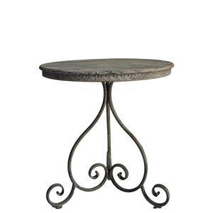 Table Ronde Romantique En Fer - Achat / Vente table de ...