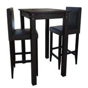 MANGE-DEBOUT Set de 1 Table de bar Tabourets et chaises de bar