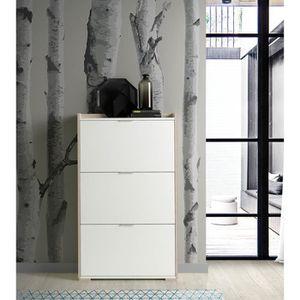 MEUBLE À CHAUSSURES Commode meuble à chaussures coloris cambrian-blanc