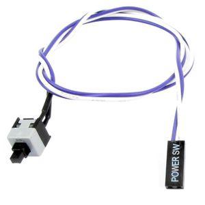 CÂBLE D'ALIMENTATION 50cm Long Purple White Flexible Power Switch Butto