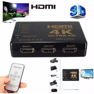 REPARTITEUR TV 3D 4K 5 Port HDMI Switch Commutateur Répartiteur S