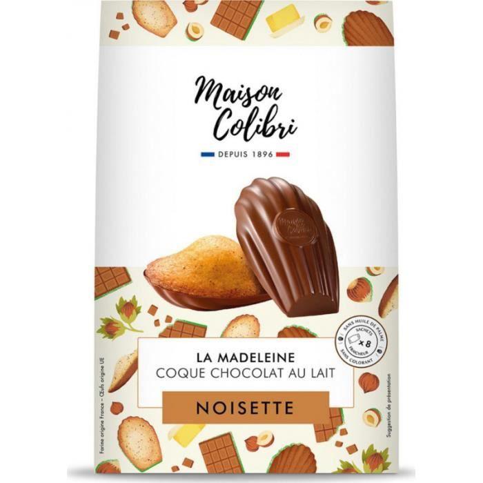 Maison Colibri Madeleine noisette chocolat au lait