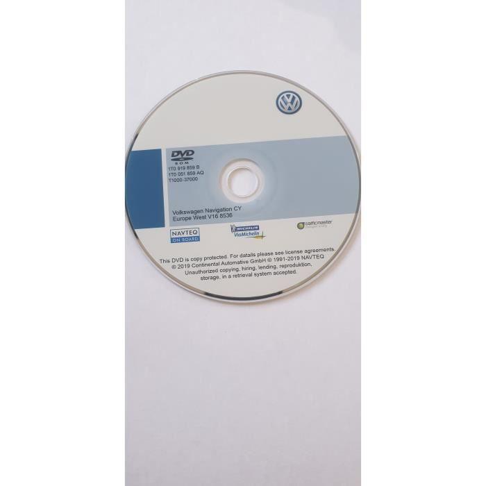DVD Original GPS Europe V16 - 2019 - RNS 510 - RNS 810 - Volkswagen - SEAT - SKODA