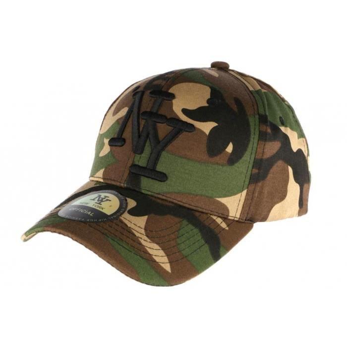 Casquette NY enfant militaire verte Chief 7 à 12 ans - Vert - Taille unique