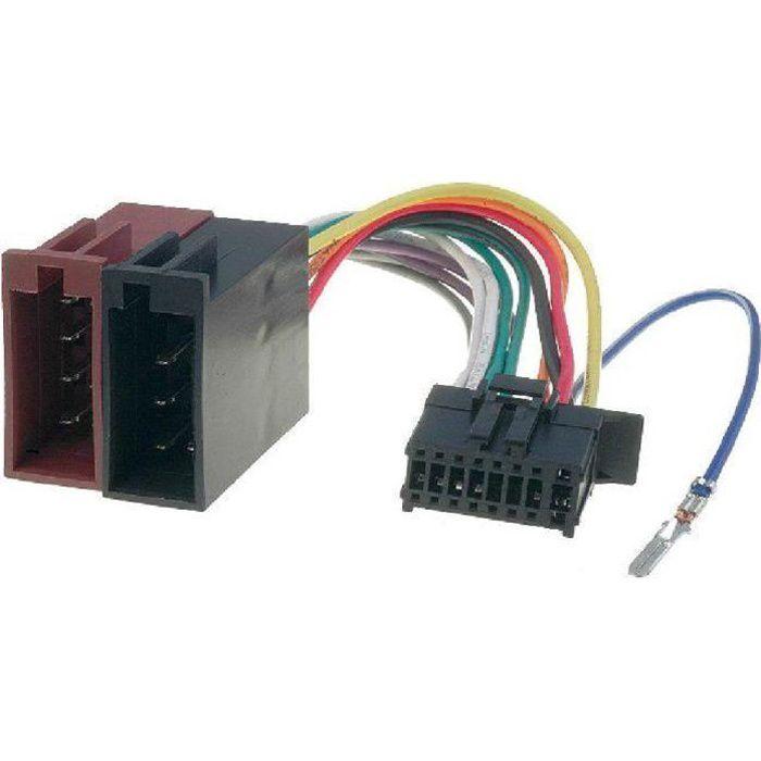 Cable Autoradio Pioneer 16PIN Vers Iso - connecteur noir 2