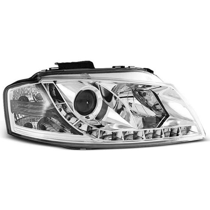 Paire de feux phares Audi A3 8P 03-08 Daylight led chrome