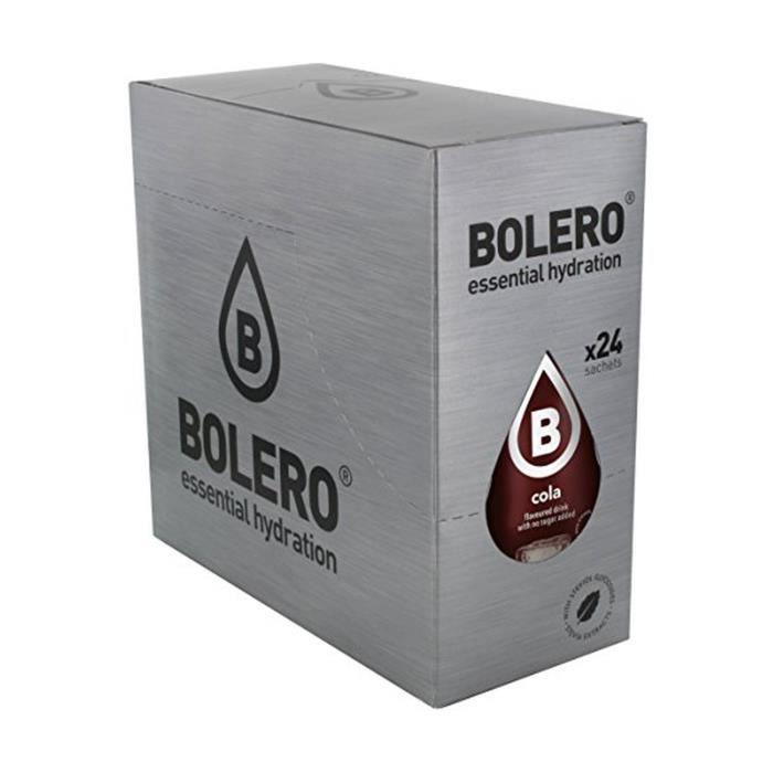 Bolero+Boisson instantanée sans saveur de sucre cola 24 unités de 9g