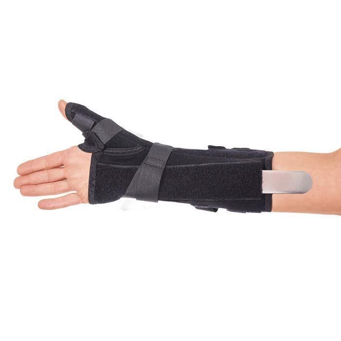 légèreté de l'orthèse de poignet support de pouce raideur en option ressort de raideur main gauche noir petit modèle