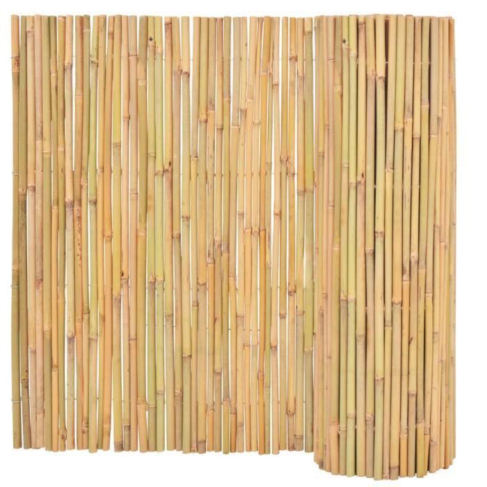 ♫5065 Clôture de jardin Brise vue Classique Bambou 300 x 100 cm FNCM®