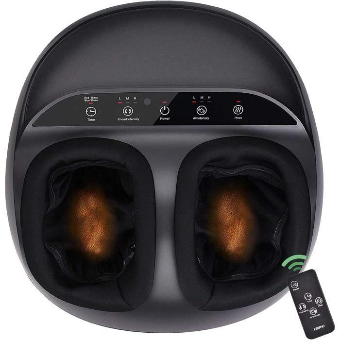 RENPHO Massage Pieds Électrique Masseur Pieds Shiatsu Appareil de Massage Pieds avec Télécommande, Chauffant Infrarouge, Compression