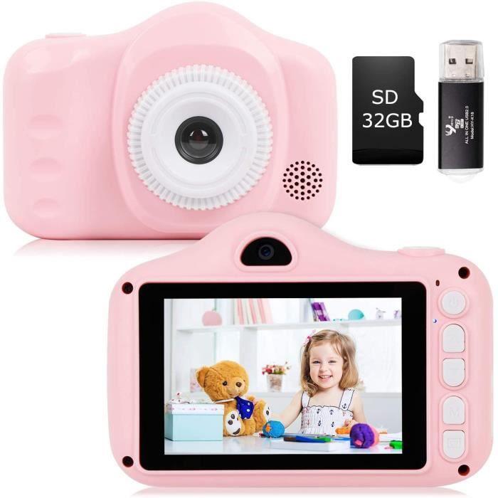 YUNKE Appareil Photo pour Enfants, Appareil Photo pour Enfants avec eacutecran de 3,5 Pouces 8,0MP 1080P HD pour Enfants de 2 agrav