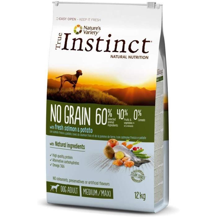 Nourriture pour chiens True Instinct sans Céréales Adult Medium-Maxi Saumon Nourriture pour Chien 2 kg 36280