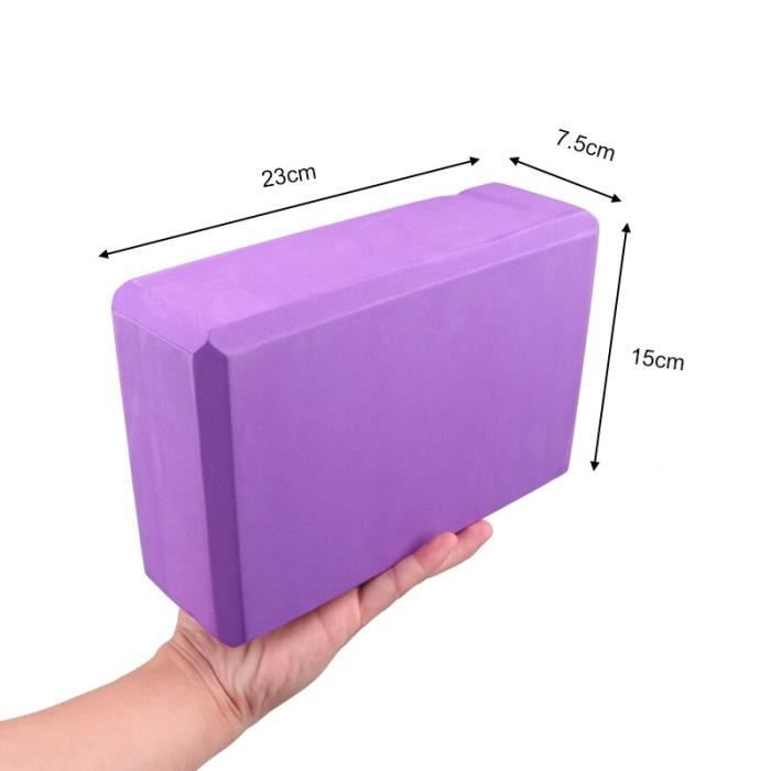 Tapis de sol,Genouillère de Yoga ronde Portable, 2 pièces, tapis de Fitness, Sprot, planche de protection, tapis TPE - Type violet