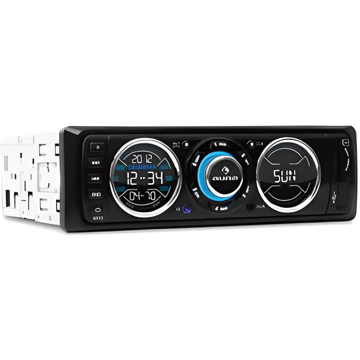 auna MD180 - Autoradio numérique avec façade design unique multicolore - Autoradio FM et multimedia USB SD AUX - 4 x 75W