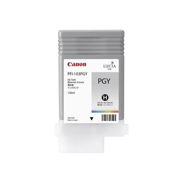 Canon Réservoir d'encre original Pfi 103 Pgy 130 ml gris photosensible