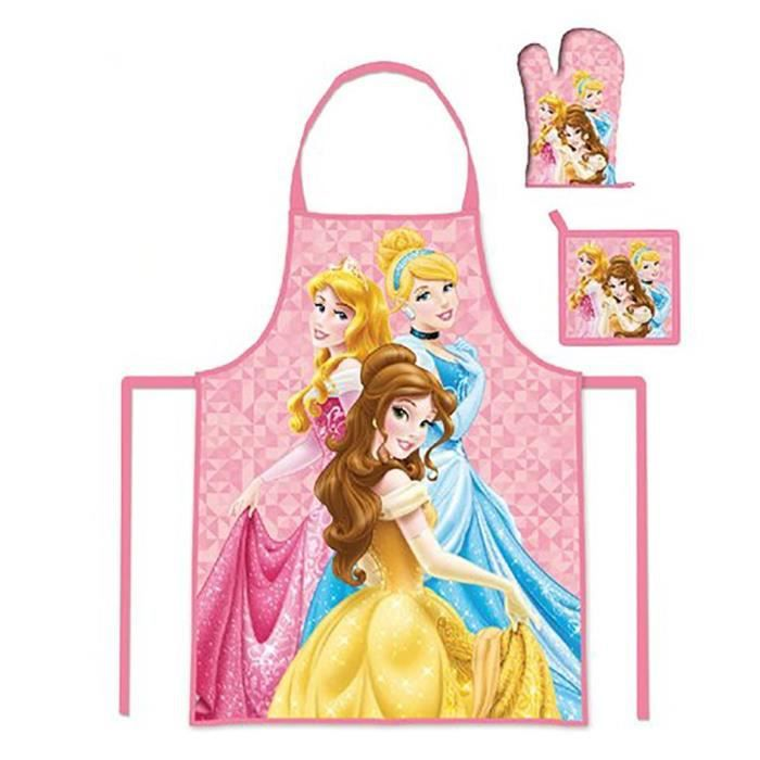 Set Tablier + Gant + Manique Princesse - 3/8 ans