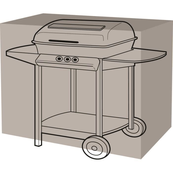 Housse de protection barbecue rectangulaire 155 x 61 x 97 cm