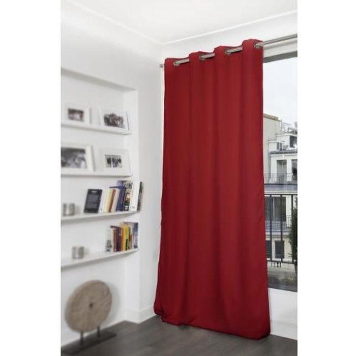 Rideau Occultant et Thermique MOONDREAM Rouge 145 x 260 cm