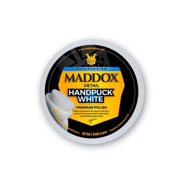 MADDOX DETAIL - HANDPUCK WHITE. Disque en mousse dure et à pores fins pour une application manuelle facilitée du polissage.