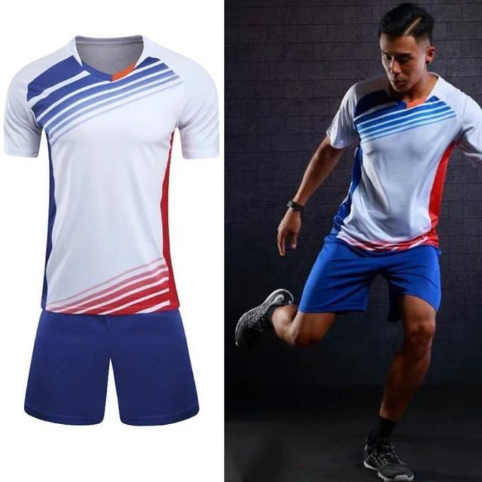 Adulte / enfants maillots de football mis en uniforme de vêtements de football kit bon marché respirant survêtement chemise de footb