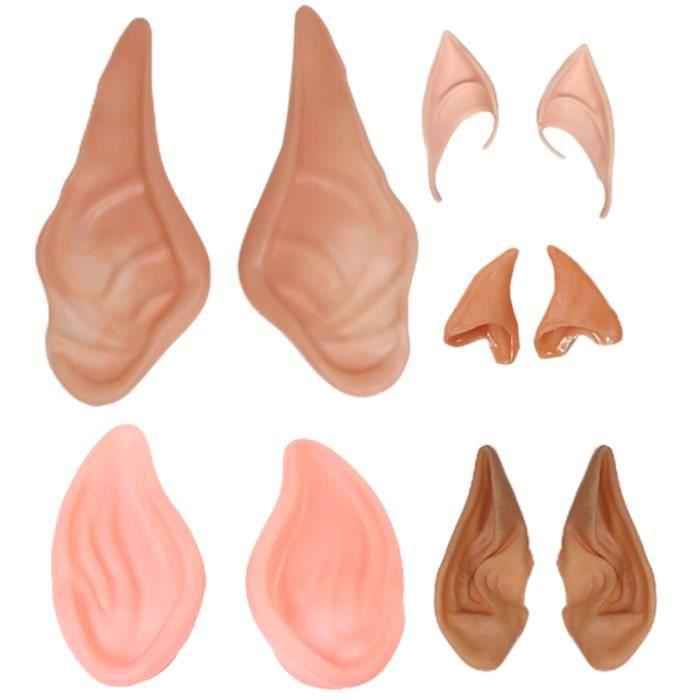 5 paires Halloween fausses oreilles d'elfe accessoires de cosplay drôles habiller de accessoire COSTUME - DISGUISING PANOPLIE