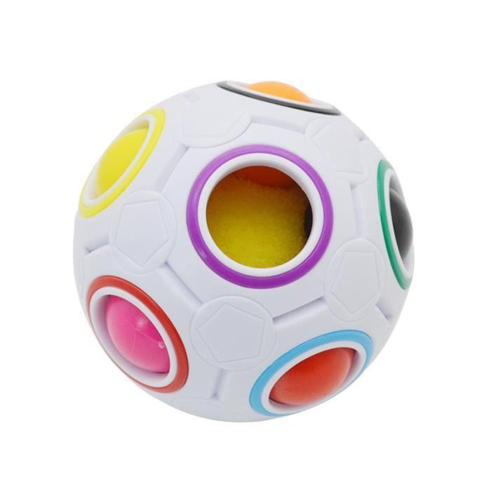 Puzzle Rainbow Magic Cube 3D Boule Jouets éducatifs Fidget Balls pour Playtime Kid Intelligent BALLE - BOULE - BALLON