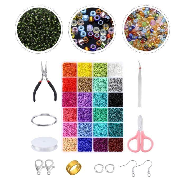1 ensemble de perles de verre à bricoler soi-même accessoires pour faire un collier des bracelet - gourmette - jonc bijoux