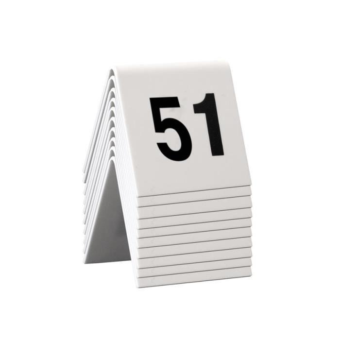 Chevalet de table numérotés 51-60 Blanc
