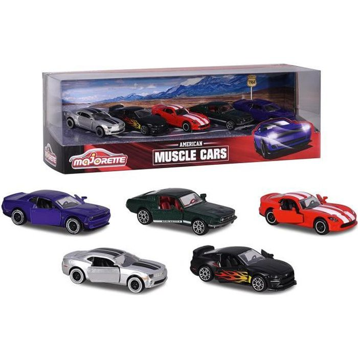 MAJORETTE Muscle Cars Giftpack - 5 Pièces