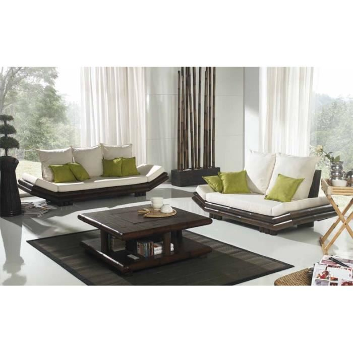 canap ethnique mod le tao achat vente canap sofa divan bambou cdiscount. Black Bedroom Furniture Sets. Home Design Ideas