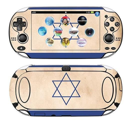 skin stickers pour sony ps vita sticker israel flag. Black Bedroom Furniture Sets. Home Design Ideas
