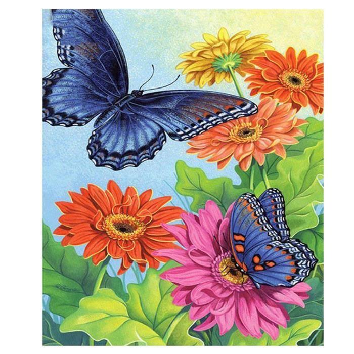 Multicolore Toile Papillon Et Fleur Peinture Decorative 30 40cm Achat Vente Tableau Toile Soldes Sur Cdiscount Des Le 20 Janvier Cdiscount