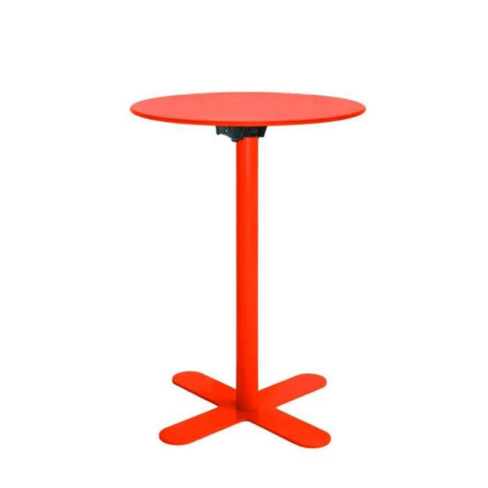 Table Haute De Jardin Design San Mateo D60 Couleur Orange