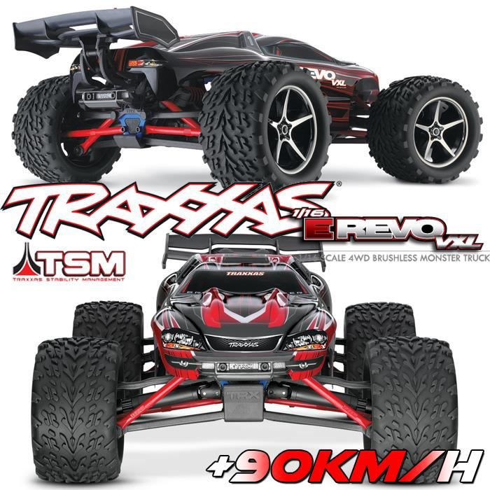 voiture rc truggy e revo 4x4 1 16 vxl brushless tq 2 4ghz tsm id 1 16 me lectrique. Black Bedroom Furniture Sets. Home Design Ideas
