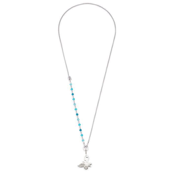 Leonardo Jewels Womens Darlins Necklace Made Of Stainless Steel And Glass, 89cm 1BRJAJ
