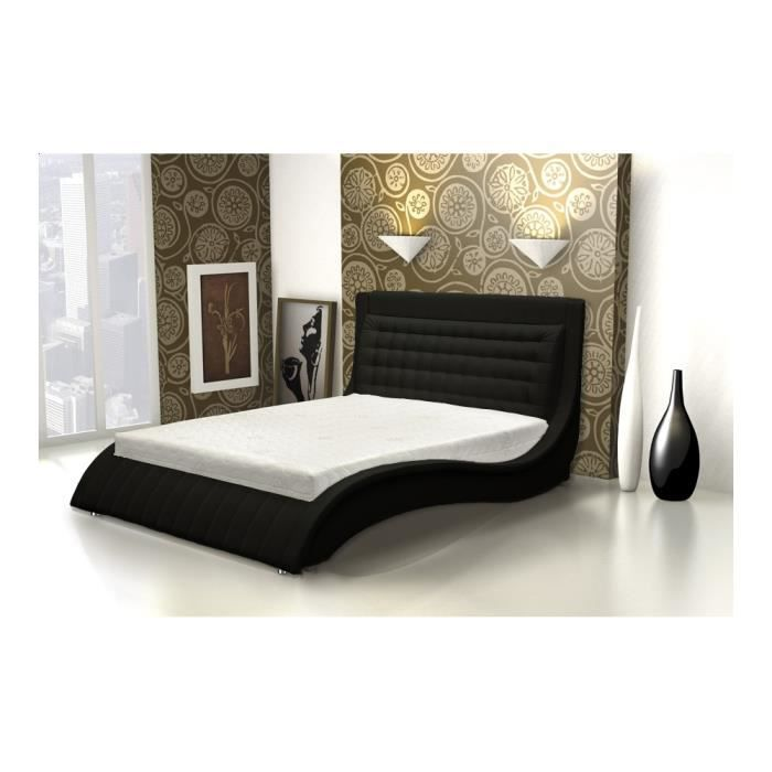lit capitonn venisea 160x200 cm achat vente lit. Black Bedroom Furniture Sets. Home Design Ideas