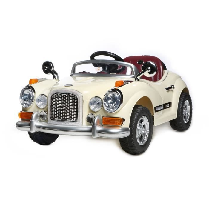 cream vintage roadster 12v kids 39 voiture achat vente voiture enfant cdiscount. Black Bedroom Furniture Sets. Home Design Ideas