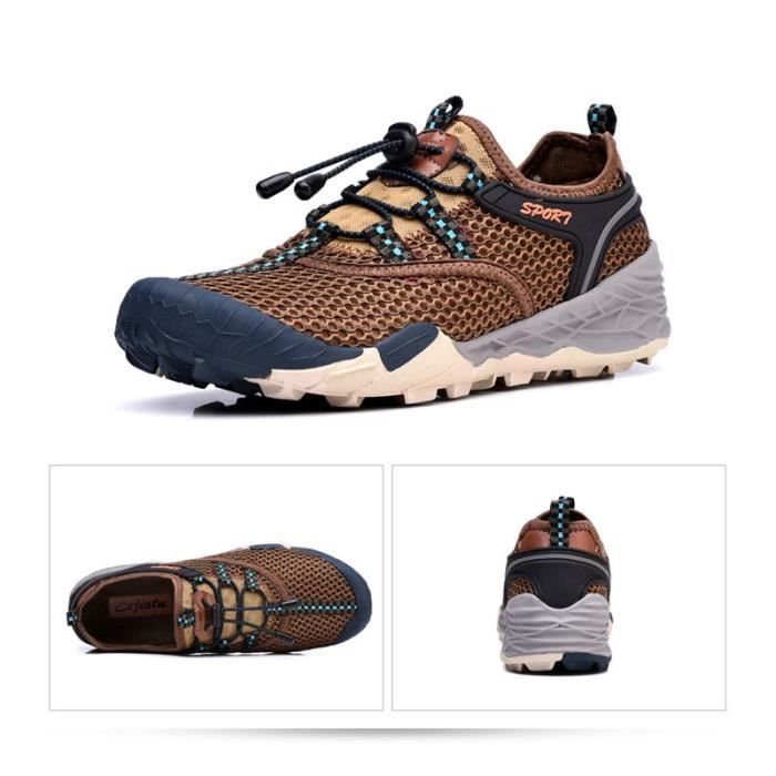Baskets Homme Chaussure Jogging Sport léger Respirant Chaussures BBZH-XZ219Marron40 IG2KMOZ10k