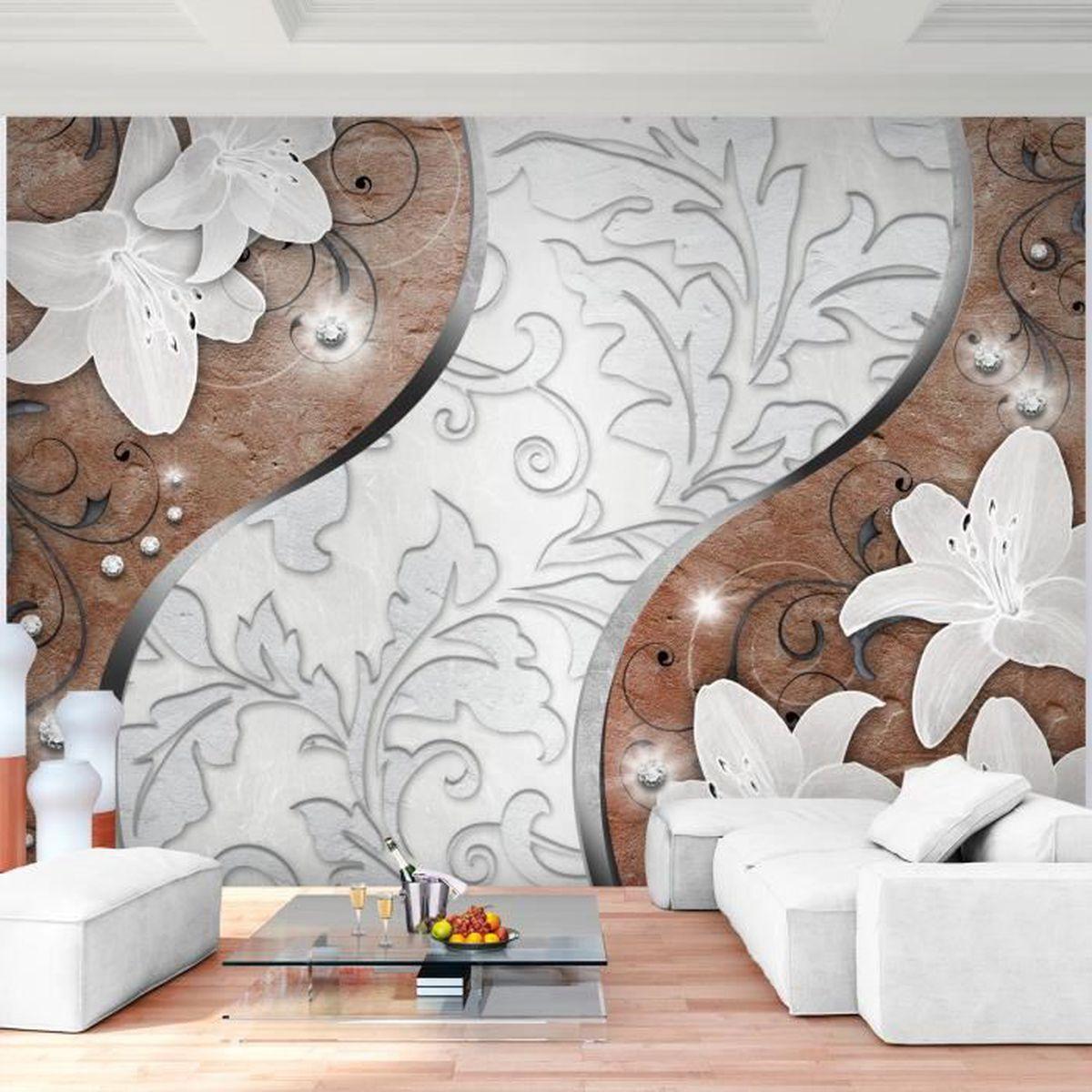 Fleurs Lys Abstrait 3d toile papier peint Papier peint XXL Graffiti a-a-0287-a-a