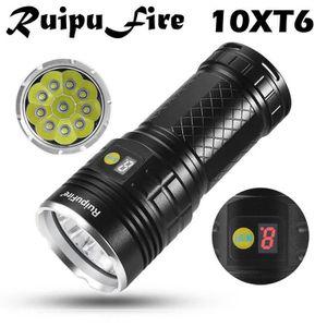 LAMPE DE POCHE RuipuFire 10x XM-L T6 LED de puissance numérique H