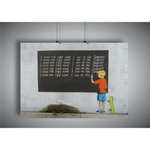 AFFICHE - POSTER Poster BANKSY STREET ART SIMPSON GRAFFITI Wall Art