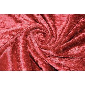 TISSU Tissu Panne de Velours Rouge -Au Mètre