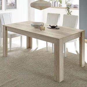 TABLE À MANGER SEULE Table à manger 160 cm contemporaine couleur chêne