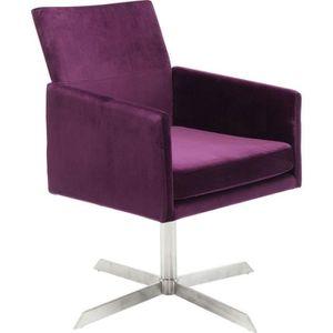FAUTEUIL Fauteuil pivotant Dialog violet Kare Design