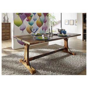 TABLE À MANGER SEULE Table à manger 200x100cm - Bois massif recyclé mul