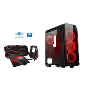 UNITÉ CENTRALE  Pc Gamer Deathmatch 8 Red AMD Ryzen 3 1300X  - nVI